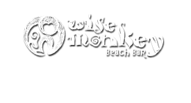 wise monkey beach bar logo